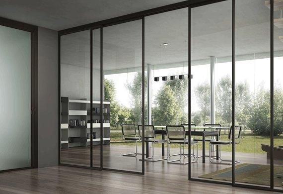 Porte, Finestre e divisori in vetro a Ca' Granda Milano (8)